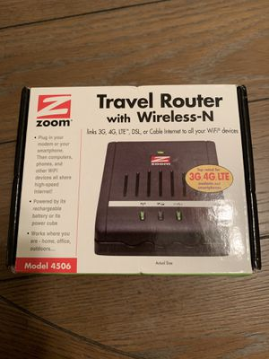 Zoom travel router/ wireless-N new for Sale in WILOUGHBY HLS, OH