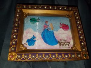 Sleeping Beauty 45th anniversary jewelry box with watch and charm never been worn never been used for Sale in Burlington, WI