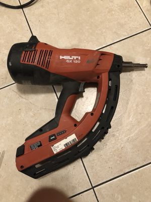 Hilti gx 120 nail gun track drywall gas actuated tool for Sale in Las Vegas, NV