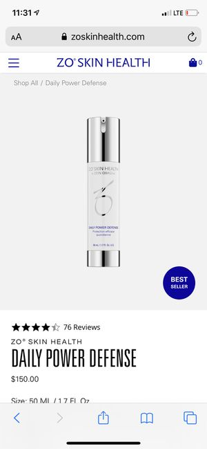 Zo skin health daily power defense for Sale in Fort Worth, TX