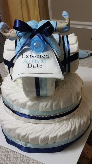 Motorcycle diaper cake for Sale in Fayetteville, GA