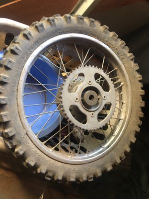Cr 125. Rear wheel and tire for Sale in Fontana, CA