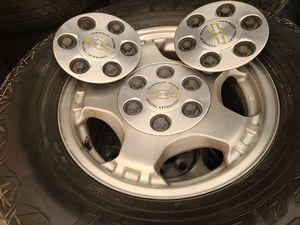 "Wheels and tires lt 265/70r16"" 6 lug Silverado Tahoe Yukon suburban escalade avalanche gmc 6x5,5 or 6x139,7 for Sale in Riverside, CA"