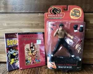 Bruce Lee Enter the Dragon Action Figure Toy & DVD Movies (Enter the Dragon / Fists of Fury / The Chinese Connection) for Sale in Renton, WA
