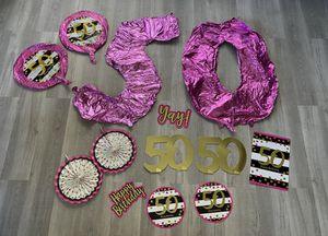 50th birthday decor for Sale in Perris, CA