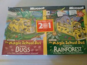 Microsoft The magic Bus Explorers Bugs & the Rainforest 2 for1 Combo (PC) for Sale in Yelm, WA
