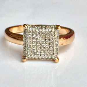 18k gold filled pave artificial diamonds ring for Sale in Silver Spring, MD
