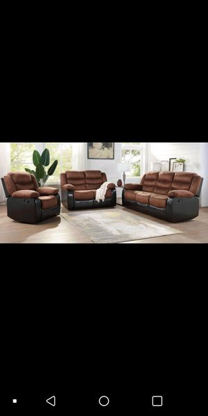 New 3pc. Recliner Living Room Set for Sale in Austin, TX