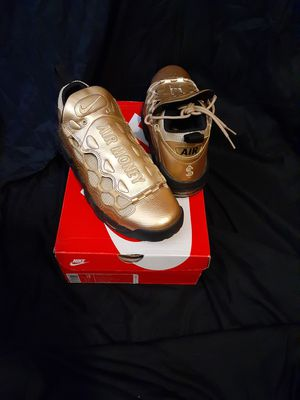 Nike more money metallic gold size 10.5 for Sale in Pottsville, PA