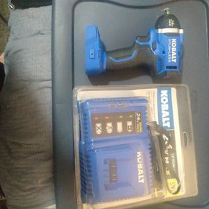 Kobalt 1/4 In Impact With Charger for Sale in Portland, OR