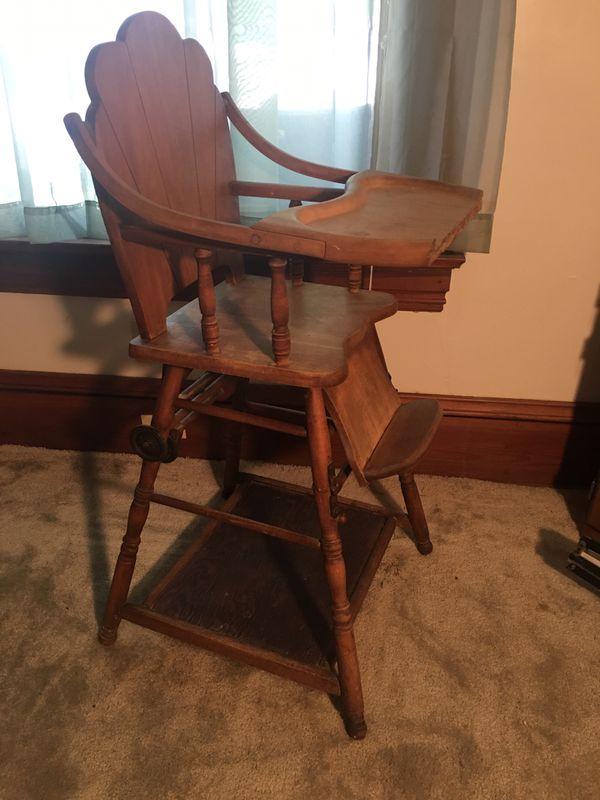 Antique convertible high chair 1930's