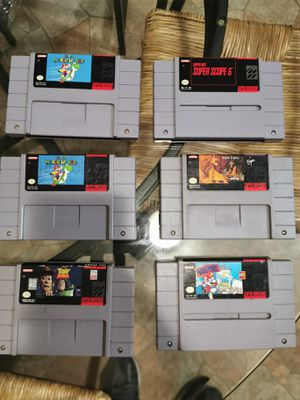 Snes games super nintendo for Sale in San Diego, CA