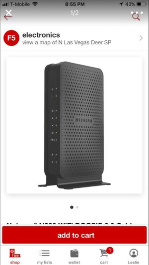 Netgear N300 WiFi Docsis 3.0 Cable Modem Router for Sale in North Las Vegas, NV