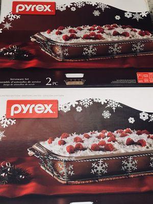 Pyrex Holiday 2 Piece Serveware Set for Sale in San Antonio, TX