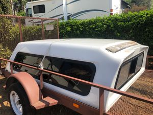 8 ft camper shell for long bed tundra or trade for 6ft Tacoma shell for Sale in Oceanside, CA