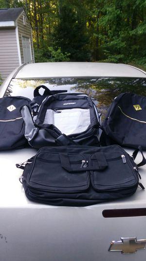 3 Backpacks 1 Laptop Bag for Sale in Bethlehem, GA