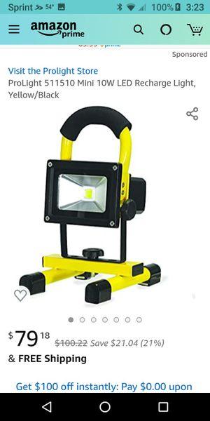 Prolight mini 10 watt rechargeable led worklight for Sale in MERRIONETT PK, IL