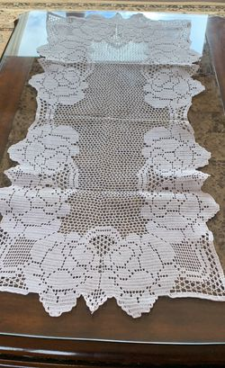 HAND MADE 150$ pristine condition And Is Great For Design Table Cover. for Sale in Staten Island,  NY