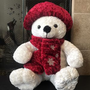 White Teddy Bear Christmas Plushy for Sale in Anaheim, CA