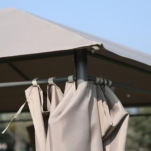 NEW 13' x 10' Steel Outdoor Gazebo Canopy Sun Shade Tent w/Curtains for Sale in Las Vegas, NV