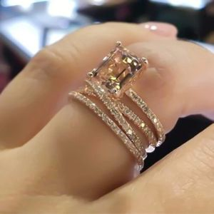 Size 7 Gold and Morganite Simulated Ring for Sale in Woodbridge, VA