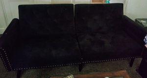 Dark blue futon sofa for Sale in Bakersfield, CA
