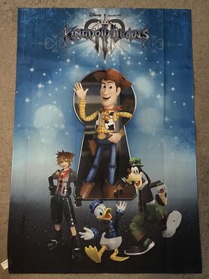 Kingdom Hearts 3 Fabric Poster for Sale in Phoenix, AZ