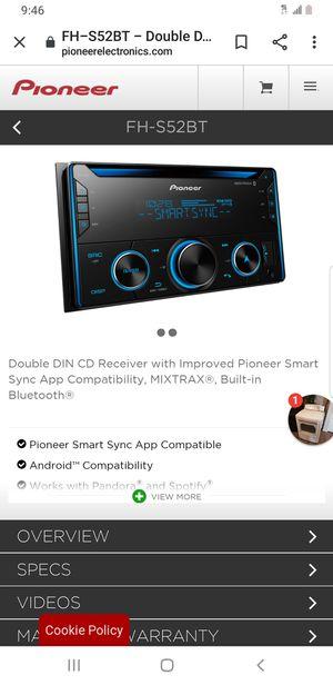 Amp and radio 160cash....2500watt amp class d & pioneer bluetooth radio... for Sale in Dallas, TX