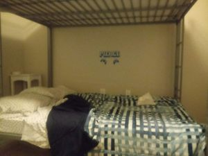 Full bed over full bunk beds with 6 inch mattress for top and bottom for Sale in Ladson, SC