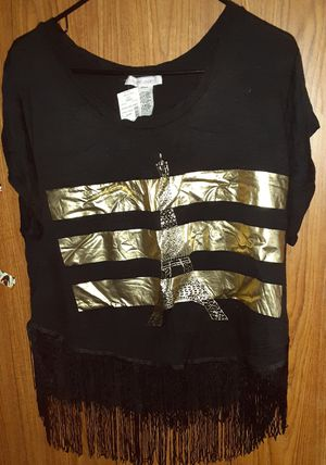 Brand new 23 love street eifle tower fringe shirt 1X for Sale in New York, NY