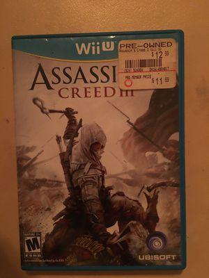 Nintendo Wii U assassin's creed 3 for Sale in Visalia, CA