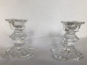 Glass candle holders - set of 2 for Sale in Bexley, OH