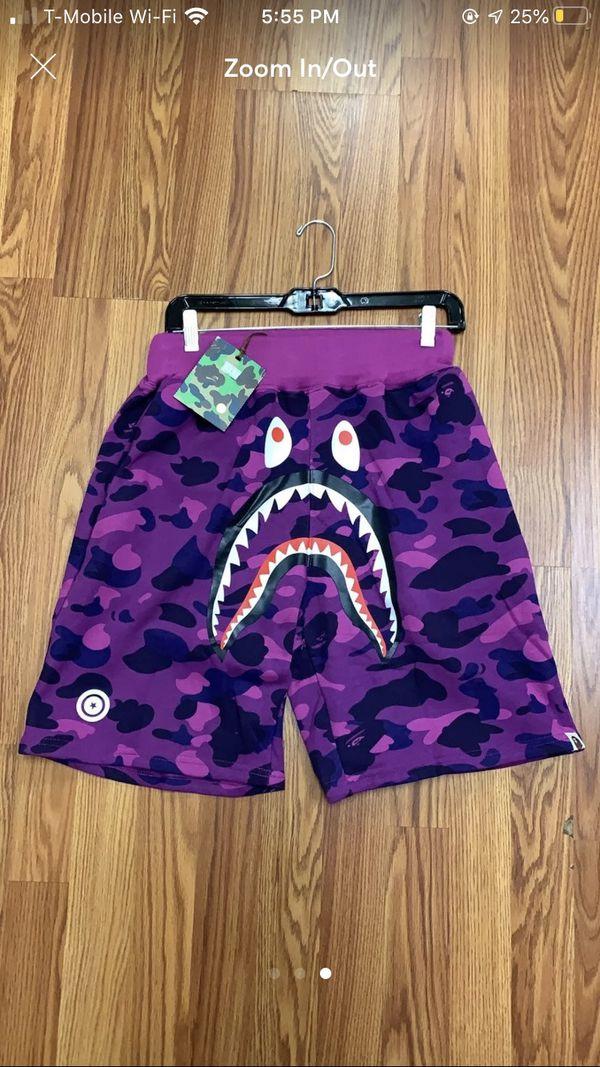 Bape shark shorts