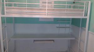 White bunk loft bed for Sale in Denver, CO