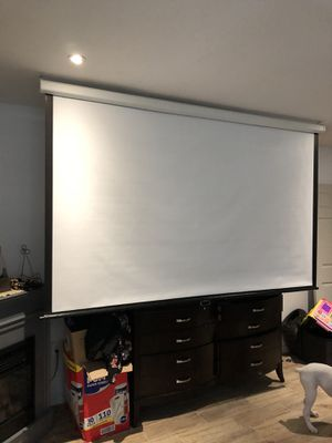 "100"" retractable projector screen for Sale in Lakeland, FL"