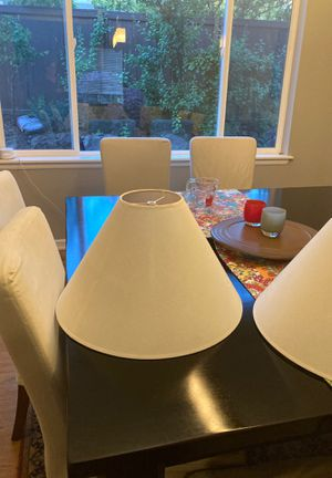 "Like new off white lamp shades. 11"" tall, 19"" wide for Sale in Bothell, WA"