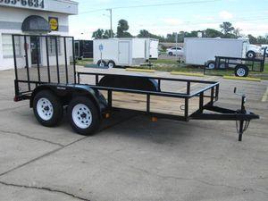 16 ft utility trailer double axle for Sale in Jenison, MI