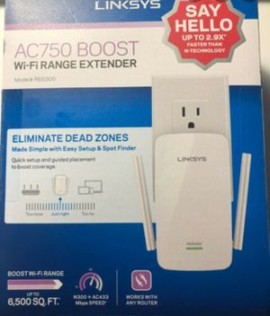 Linksys Ac 750 boost WiFi range extender for Sale in Dunedin, FL
