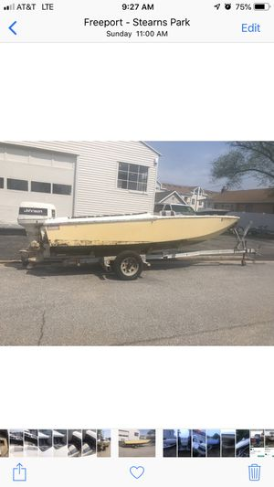 Small speed boat (projects )for sale Plenty of motors and rigging gas pedal hydraulic steering and other stuff available for Sale in Freeport, NY