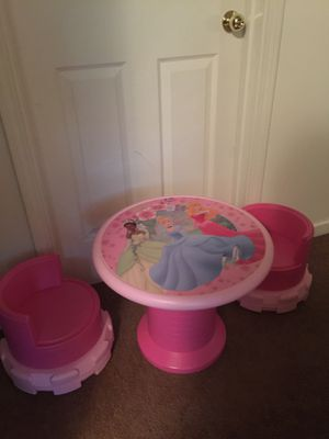 Kids Pink Princess Table And Chair Castle Set for Sale in Hiram, GA