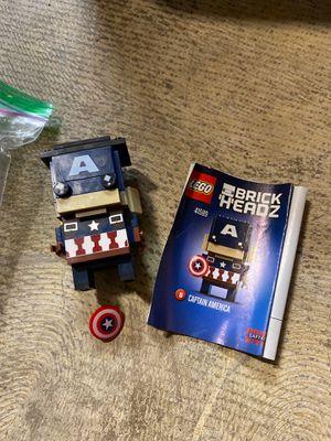 LEGO brick headz captain america for Sale in San Diego, CA