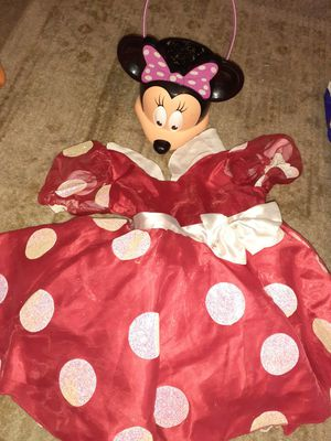 Minnie Mouse costume and pail for Sale in Auburn, WA