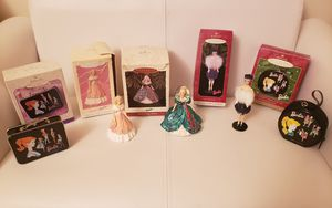 Barbie Christmas ornaments by Hallmark bundle - barbie princess added! for Sale in Jersey City, NJ