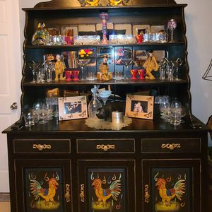 Mexican Rustic Rooster China Cabinet for Sale in Pompano Beach, FL