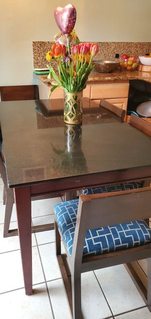 Granite kitchen table with 8 chairs for Sale in Auburn, WA