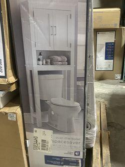 Glacier Bay Shaker Style 26.5 in. W x 10.1 in. D x 68 in. H Spacesaver in White for Sale in Los Angeles,  CA