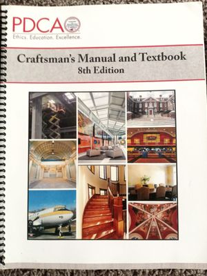 PDCA CRAFTMANS MANUAL AND TEXT 8 EDITION for Sale in Fair Oaks, CA