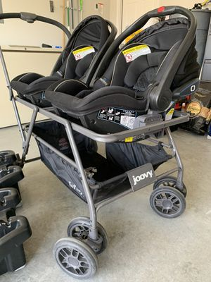 Double stroller/Car seats for Sale in Morgan's Point Resort, TX
