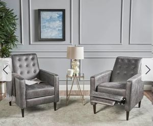 Two grey accent recliners - brand new! for Sale in Seattle, WA