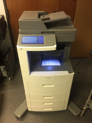 Lexmark X658de Multifunction Laser Printer Scanner Copy Fax Email for Sale in Dallas, TX